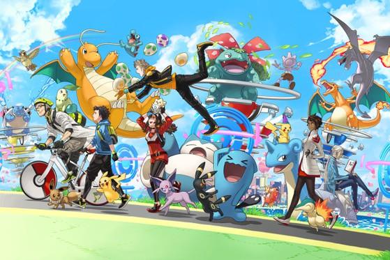 Pokemon GO anniversary image